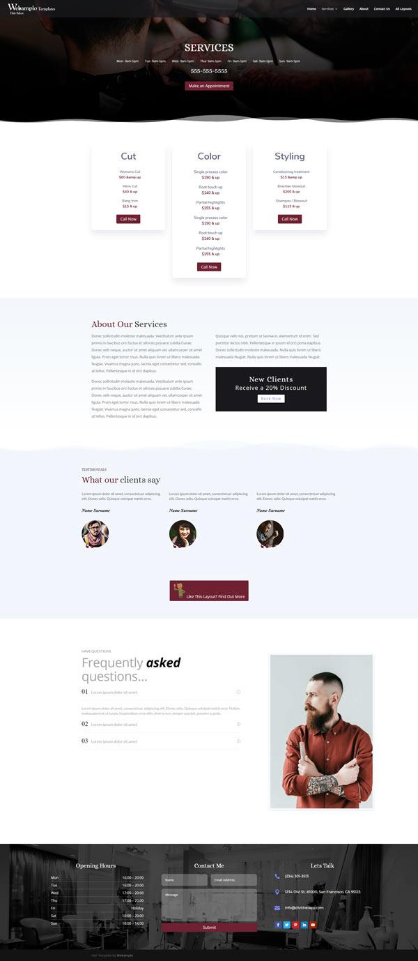 Barber Template Website