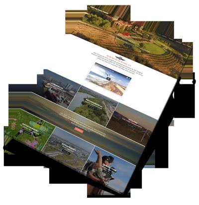 Birds Eye Aerial Drones Web Design Project