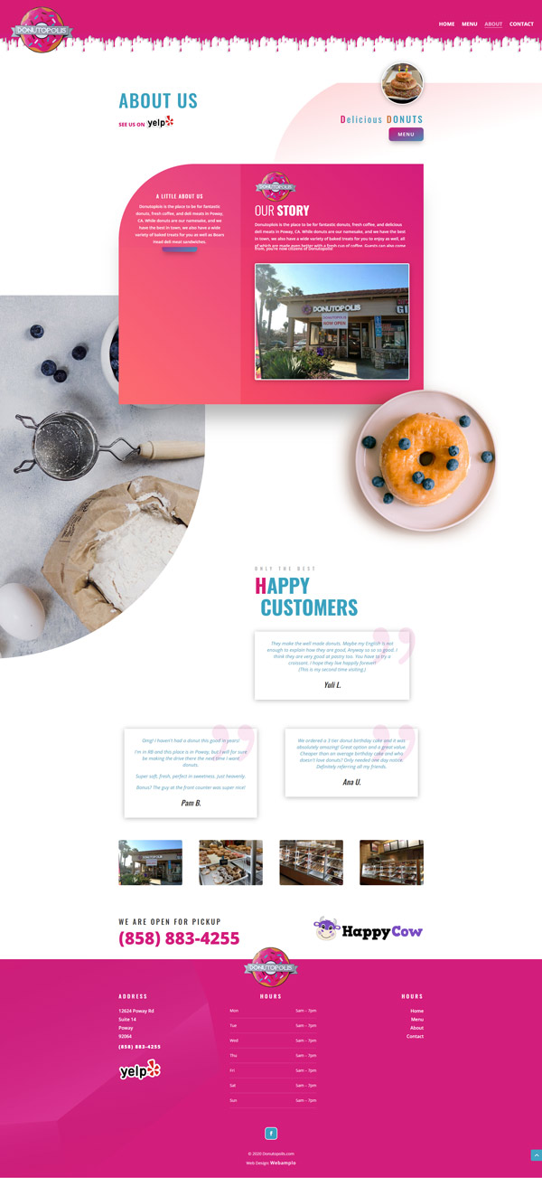 Donutopolis Web Design by Webamplo
