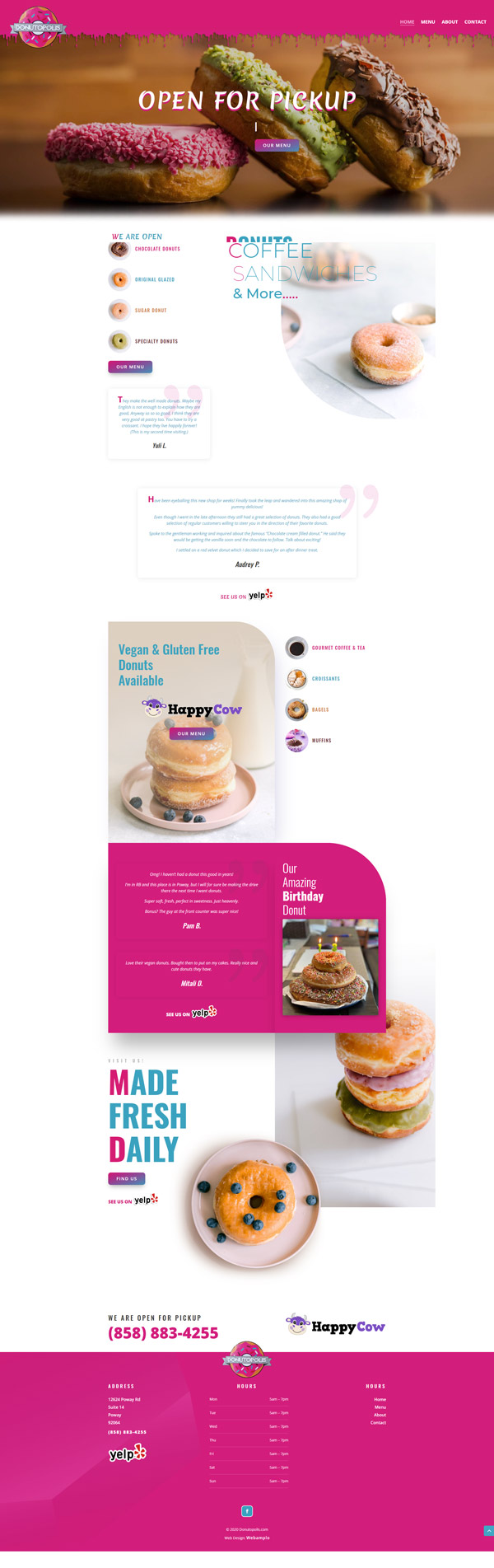 Donutopolis Web Design Project by Webamplo