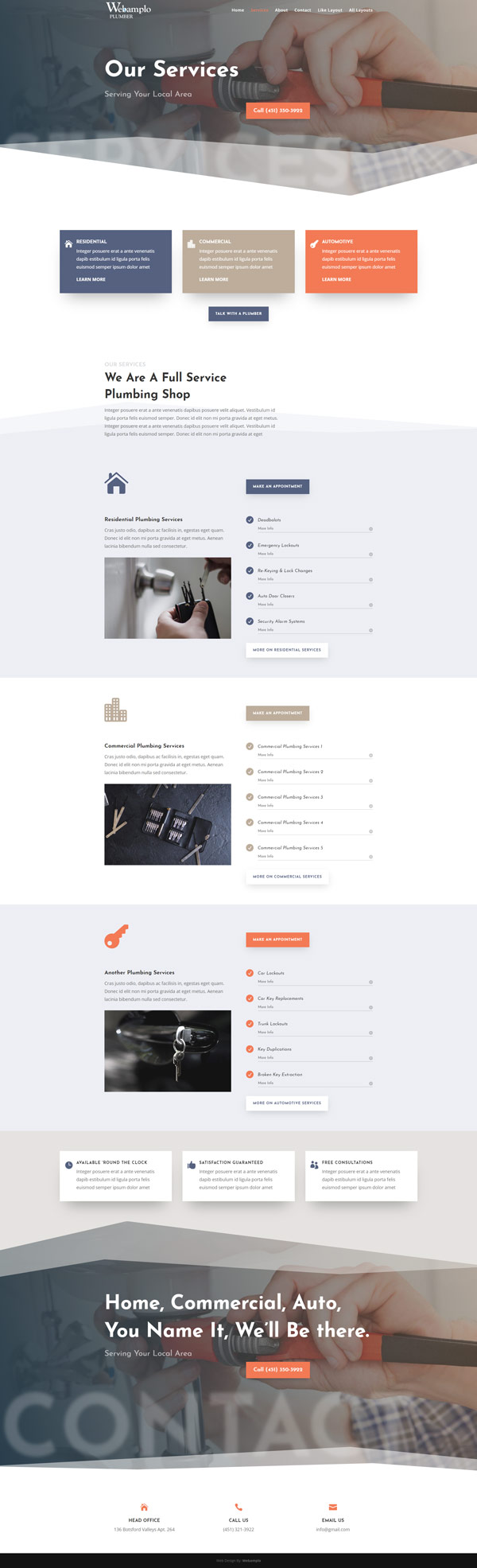 Electrician Template Website About