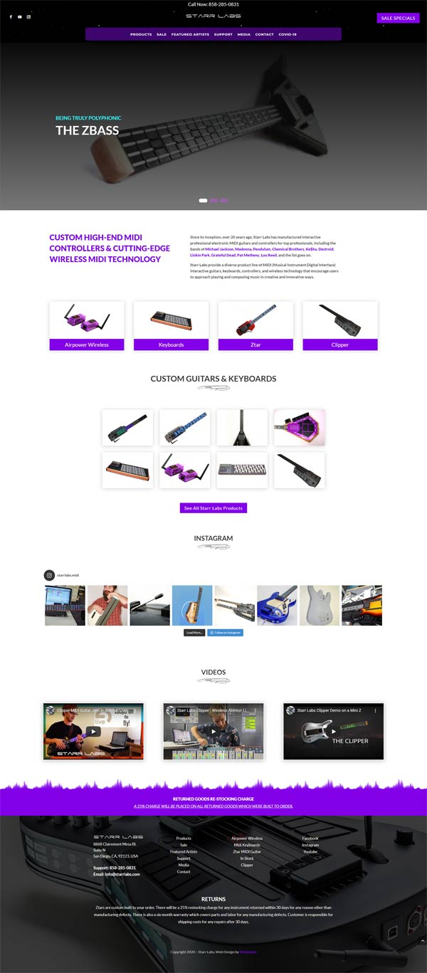 Starr Labs Web Design Project by Webamplo