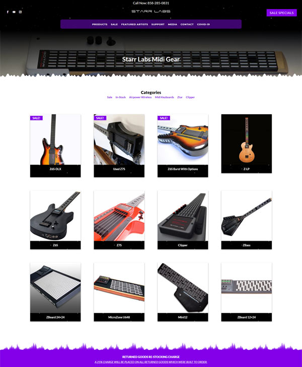 Starr Labs Sale Page Web Design Project by Webamplo