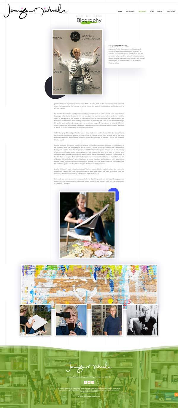 Jennifer Michaela Web Design Project by Webamplo