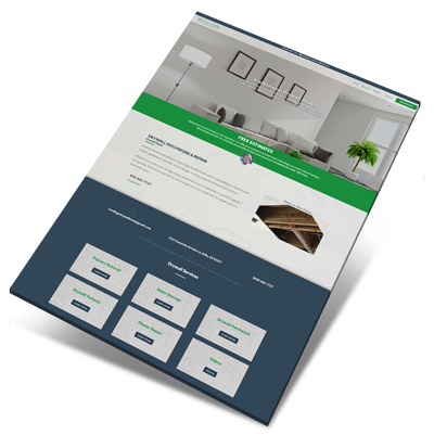 Professional Drywall Services Web Design Project