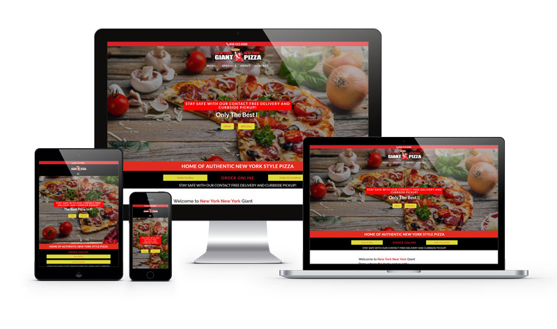 NYNY Giant Pizza Web Design Project